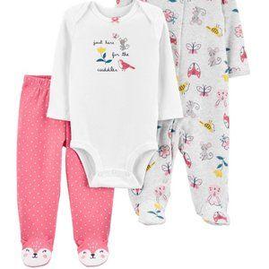 NWt NB carters 3 pc mice top pants sleeper pajamas